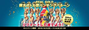 REAL GOLD 特大ボトル型パンチングバルーン