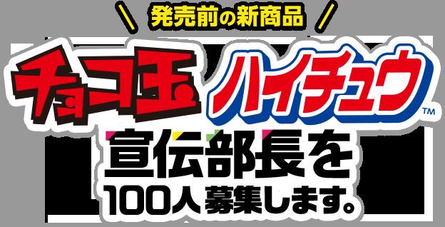 チョコ玉ハイチュウ 宣伝部長を100人募集!