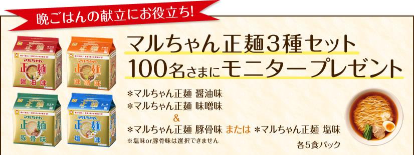 マルちゃん正麺 3種セット