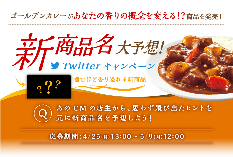 ゴールデンカレー 新商品名大予想!Twitterキャンペーン