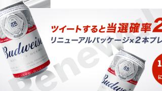 バドワイザーパッケージリニューアルプレゼントキャンペーン【合計1,000名様】|KIRIN