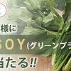 1万名様に当たる!「GREEN+SOY(グリーンプラスソイ)」無料引換クーポンプレゼント